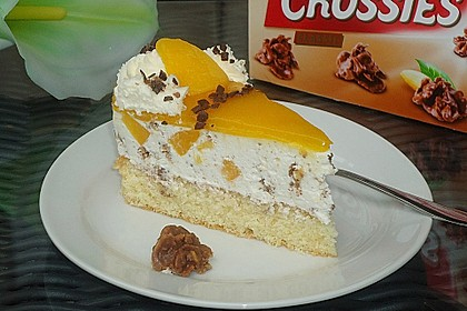 Pfirsich - Käsesahnetorte mit Choco Crossies 5