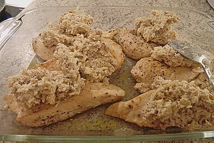 Filet vom Huhn mit Walnuss-Knoblauch-Kruste 62