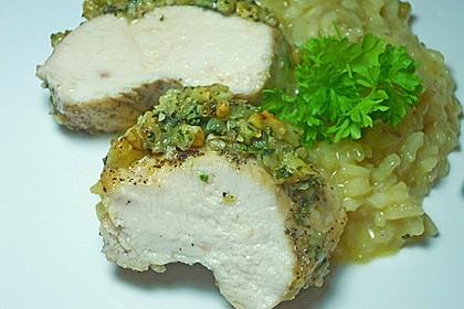 Filet vom Huhn mit Walnuss-Knoblauch-Kruste 30