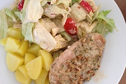 Filet vom Huhn mit Walnuss-Knoblauch-Kruste 31