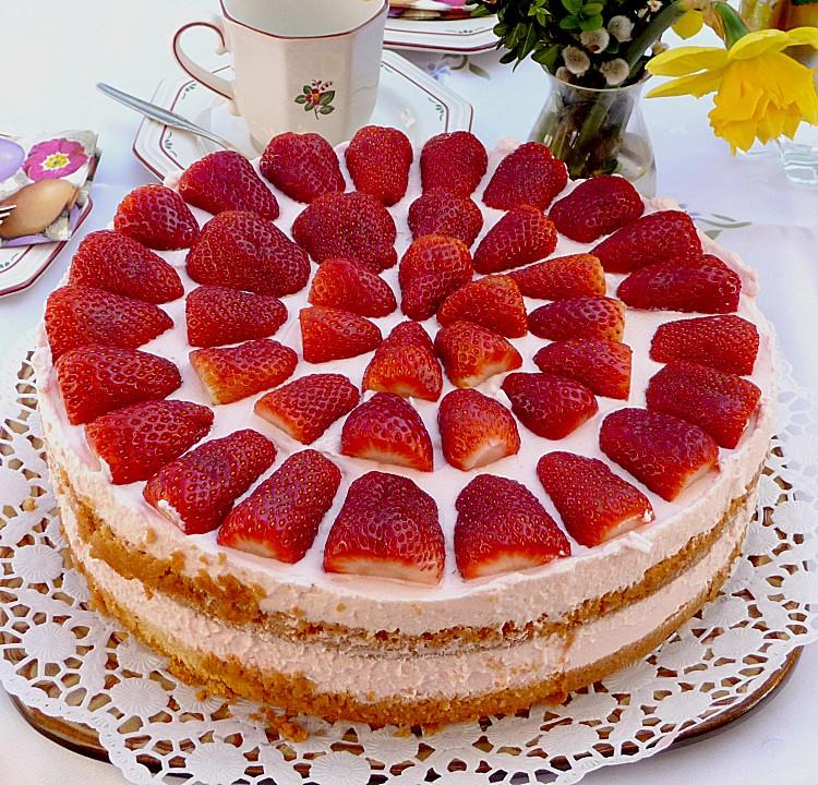 Erdbeer sahne torte rezept mit bild