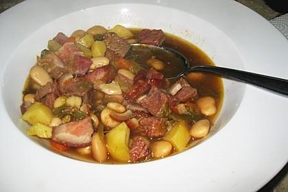 Weiße Bohnen - Suppe
