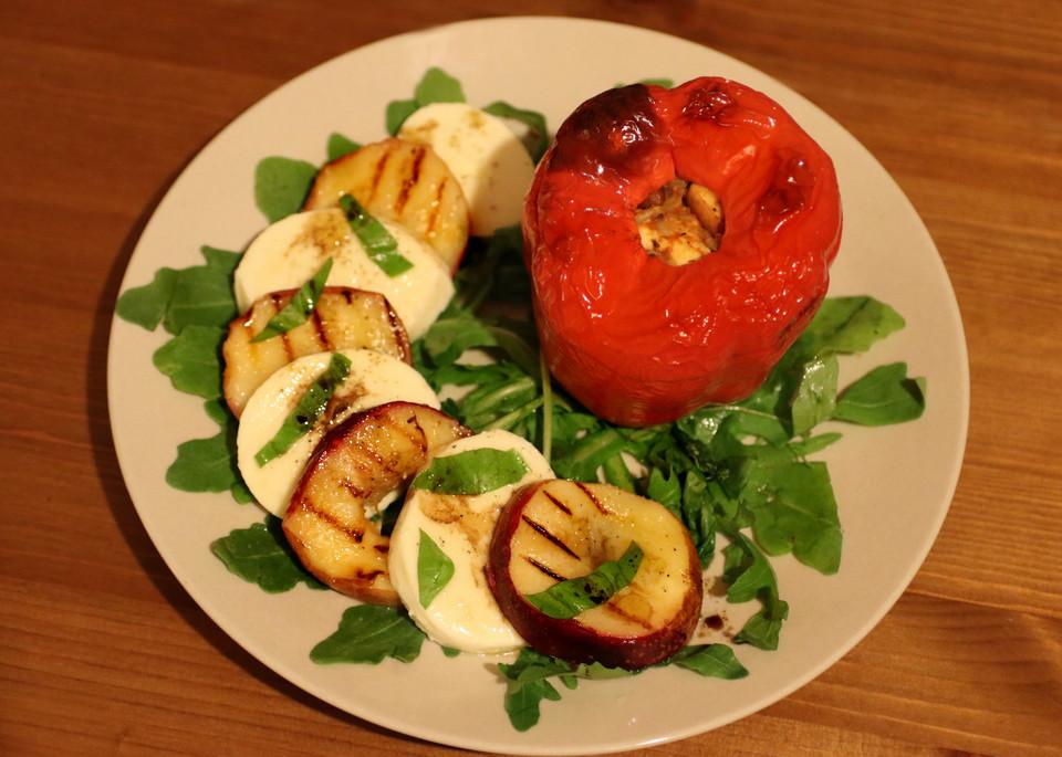 vegetarisch gef llte paprika mit feta von bloergh. Black Bedroom Furniture Sets. Home Design Ideas