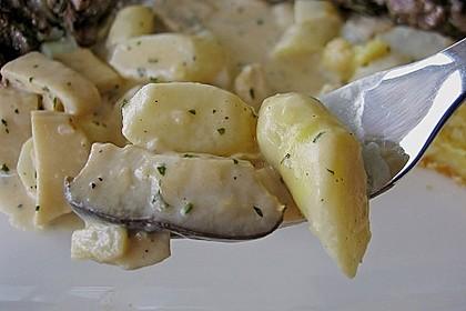 Spargel -  Kräuterseitling - Ragout à la Marquise 1