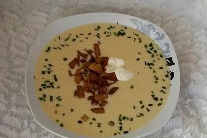 Feine Kartoffelsuppe mit Croûtons und Baconaroma 31