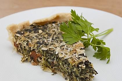 Quiche mit Spinat und Ziegenfrischkäse 6