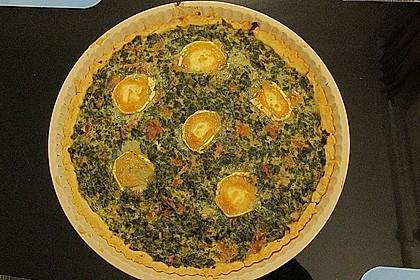 Quiche mit Spinat und Ziegenfrischkäse 38