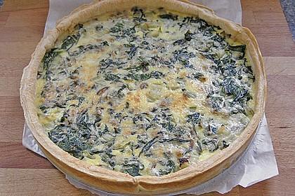 Quiche mit Spinat und Ziegenfrischkäse 9