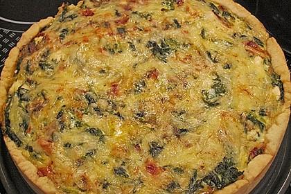 Quiche mit Spinat und Ziegenfrischkäse 8