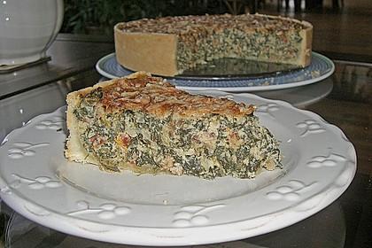 Quiche mit Spinat und Ziegenfrischkäse 11
