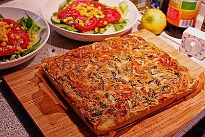 Quiche mit Spinat und Ziegenfrischkäse 4