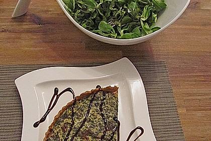 Quiche mit Spinat und Ziegenfrischkäse 16