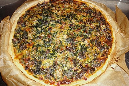 Quiche mit Spinat und Ziegenfrischkäse 10
