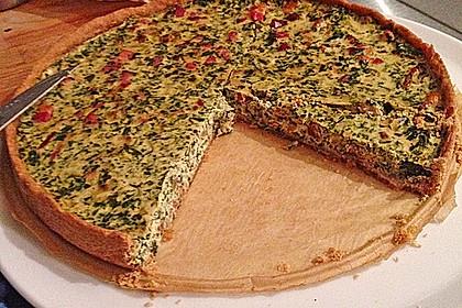 Quiche mit Spinat und Ziegenfrischkäse 3