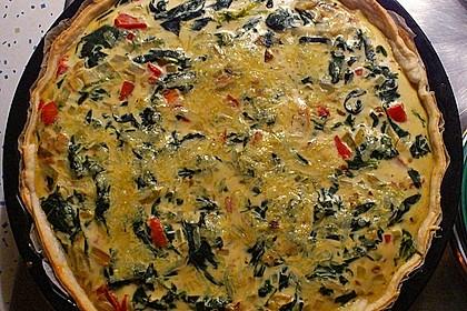 Quiche mit Spinat und Ziegenfrischkäse 7