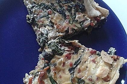Quiche mit Spinat und Ziegenfrischkäse 39