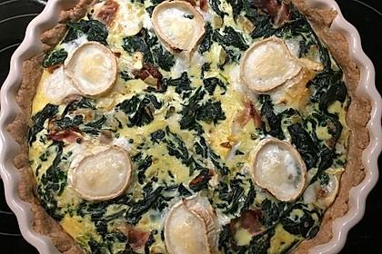 Quiche mit Spinat und Ziegenfrischkäse 41