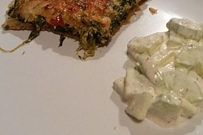 Quiche mit Spinat und Ziegenfrischkäse 30