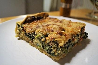 Quiche mit Spinat und Ziegenfrischkäse 1