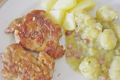 Schweinefilet auf Süßkartoffelpüree mit Lebkuchenjus und Rosenkohl 74