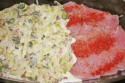Lauch - Frischkäse - Schnitzel 22