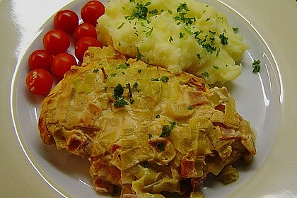 Lauch - Frischkäse - Schnitzel 3