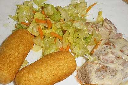 Lauch - Frischkäse - Schnitzel 12