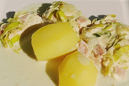 Lauch - Frischkäse - Schnitzel 15
