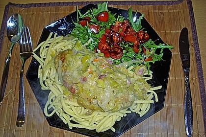 Lauch - Frischkäse - Schnitzel 8