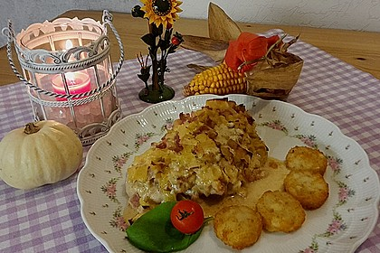 Lauch - Frischkäse - Schnitzel 2