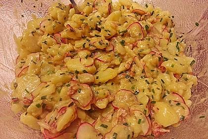 Kartoffelsalat mit Radieschen und Speck 2