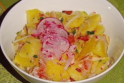 Kartoffelsalat mit Radieschen und Speck 7