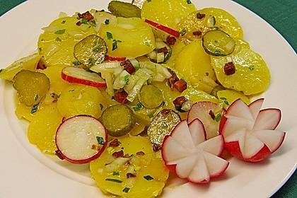Kartoffelsalat mit Radieschen und Speck 11
