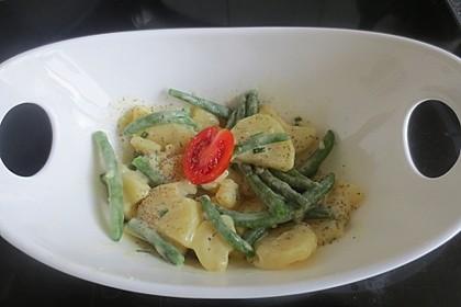 Kartoffelsalat mit grünen Bohnen 4