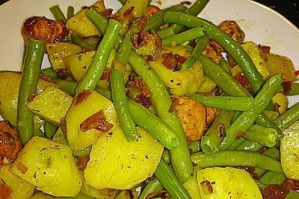 Kartoffelsalat mit grünen Bohnen 6