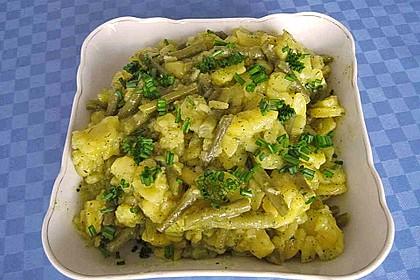 Kartoffelsalat mit grünen Bohnen 5
