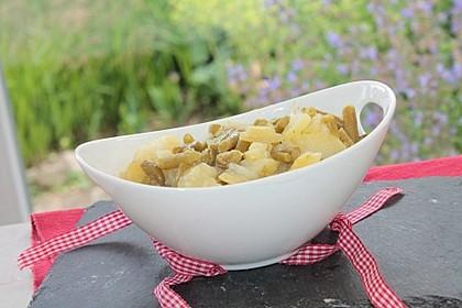 Kartoffelsalat mit grünen Bohnen 3