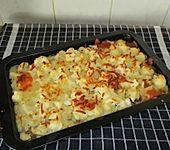 Blumenkohlauflauf mit Hackfleisch und Kartoffelbrei (Bild)