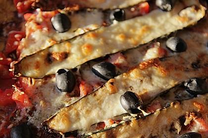 Polenta - Pizza mit Gemüse 3