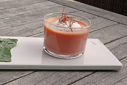Kühles Melonensüppchen mit Kokosmilch und Ingwer