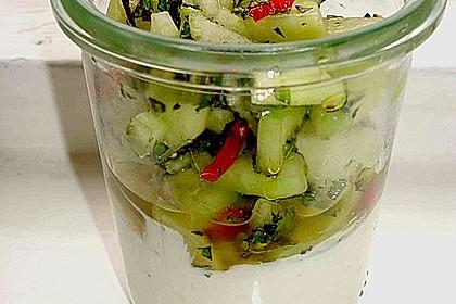 Gurken - Minze - Salat mit Mascarponecreme