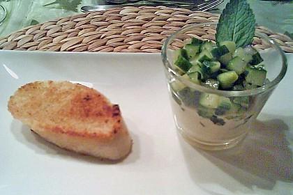 Gurken - Minze - Salat mit Mascarponecreme 4