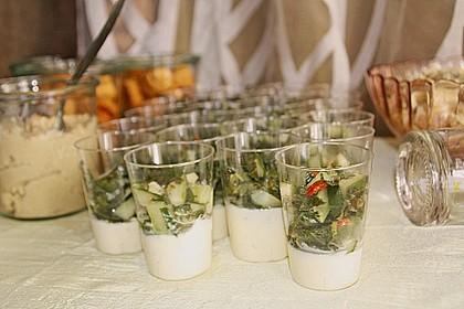 Gurken - Minze - Salat mit Mascarponecreme 3