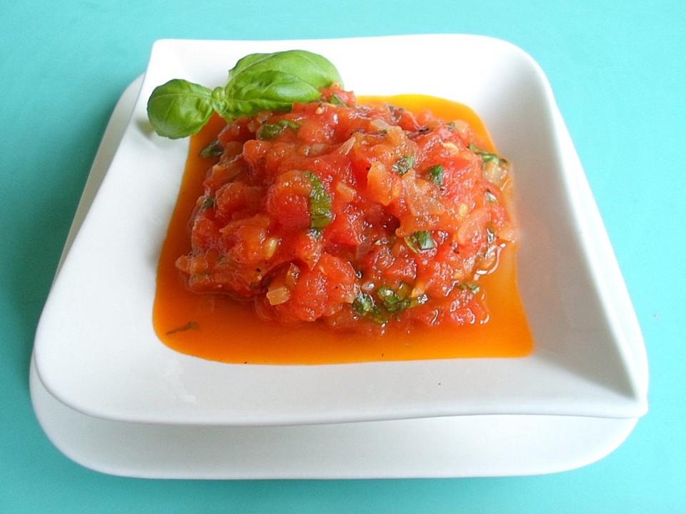 tomaten basilikum so e rezept mit bild von regenwurm567. Black Bedroom Furniture Sets. Home Design Ideas