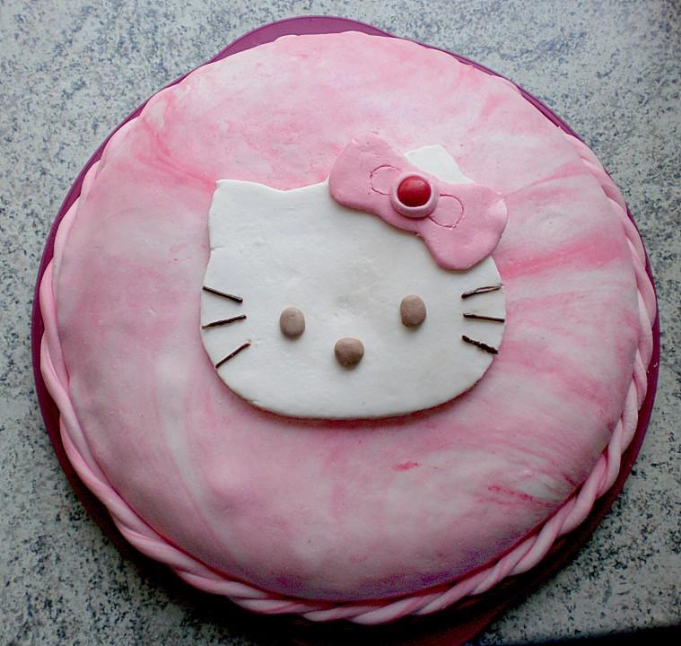 Hello kitty kuchen glasur
