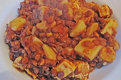 Linseneintopf mit Tofuwürfeln 5