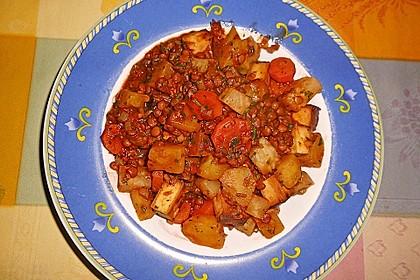 Linseneintopf mit Tofuwürfeln 2