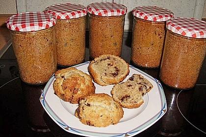 Butter - Vanille - Haselnuss - Kuchen im Glas mit Schokotröpfchen 11