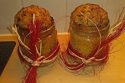Butter - Vanille - Haselnuss - Kuchen im Glas mit Schokotröpfchen 13