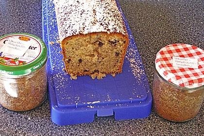 Butter - Vanille - Haselnuss - Kuchen im Glas mit Schokotröpfchen 25